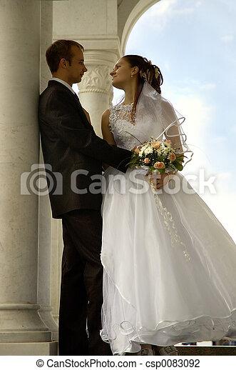 coppia, Romantico, matrimonio - csp0083092