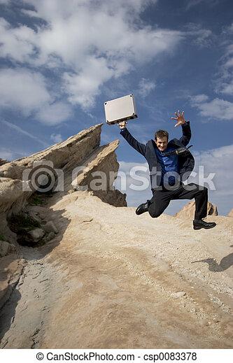 Jumping for joy - csp0083378