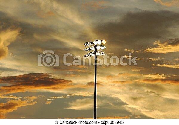 Stadium Lights - csp0083945