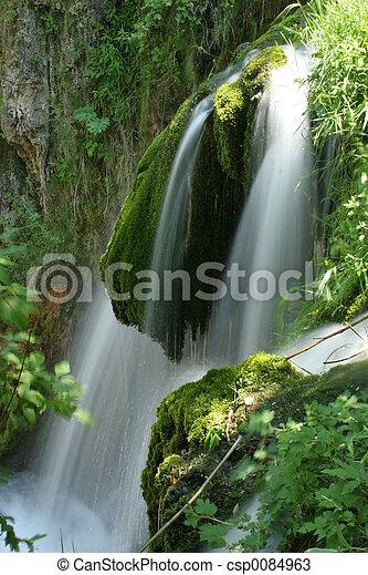Mossy waterfall - csp0084963