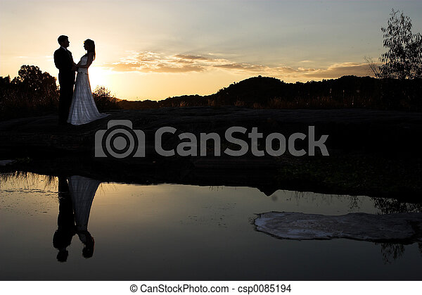 sunset bride - csp0085194