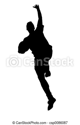 Jumping silhouette - csp0086087
