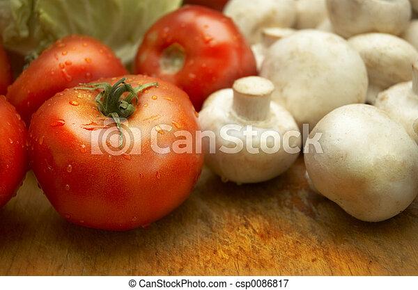 fresh wet vegetables - csp0086817