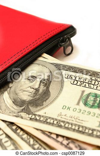 money deposit on white - csp0087129