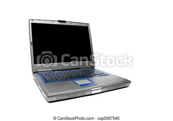 laptop notebook over white - csp0087540