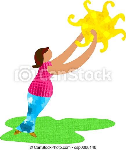 Sunshine Woman - csp0088148