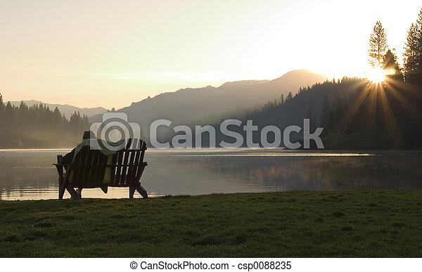 Sunrise Bench - csp0088235