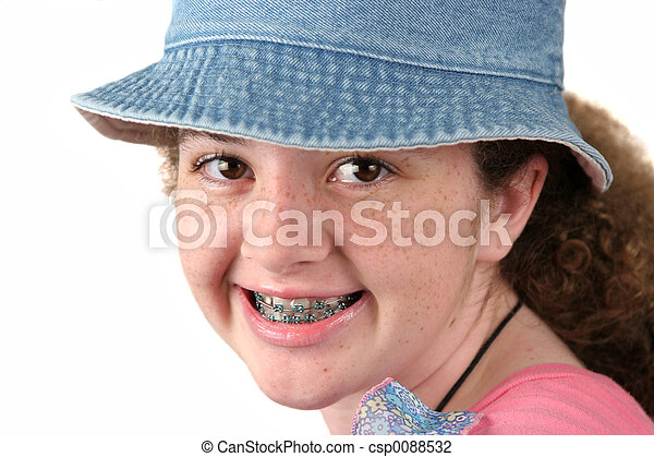 Cute Girl With Braces - csp0088532