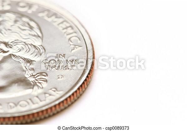 american quarter dollar macro - in god we trust - csp0089373