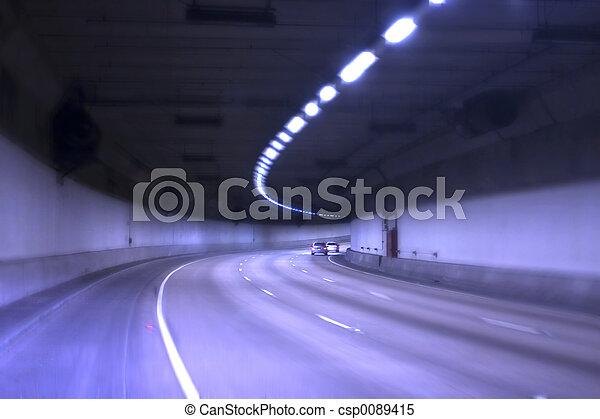 Blue Tunnel - csp0089415