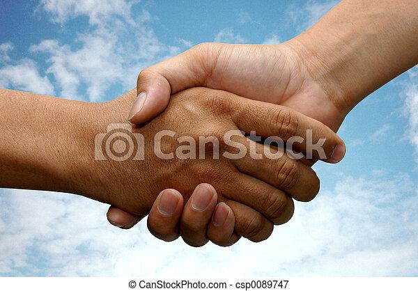 Hand Shake - csp0089747