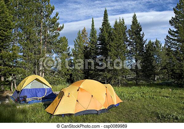 Camping tents - csp0089989