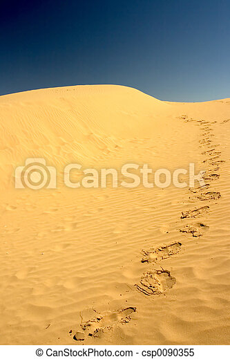 Footsteps in the desert - csp0090355