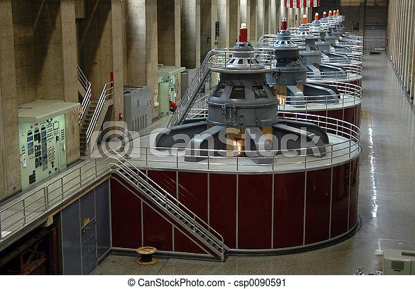 Hoover Dam turbines - csp0090591