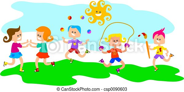Stock illustration kinder an spielen stock illustration