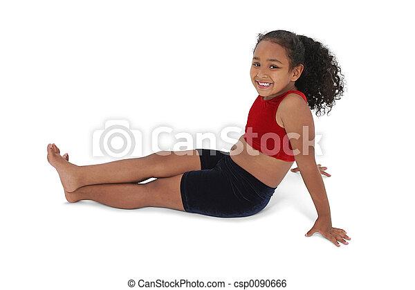 女の子, 子供, モデル - csp0090666