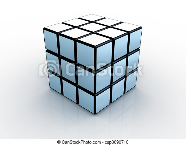 3d Rubik's cube #1 - csp0090710