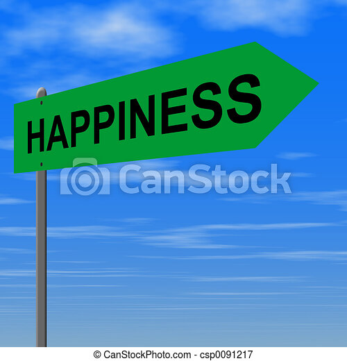 Road to happiness - csp0091217