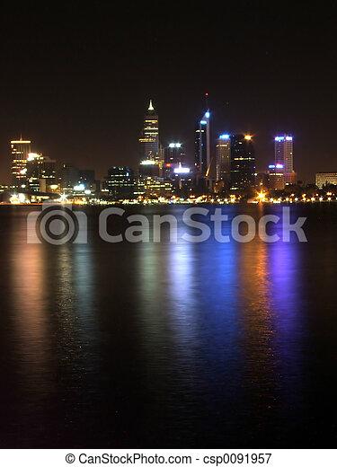 Perth city at night - csp0091957