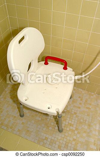 stock fotografie von dusche 1 medizin stuhl a. Black Bedroom Furniture Sets. Home Design Ideas
