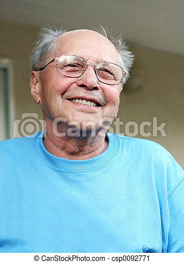 Old man smiling - csp0092771