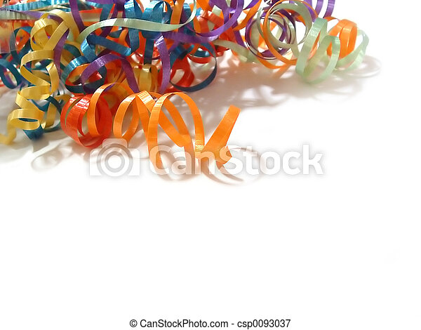 Curling Ribbons - csp0093037