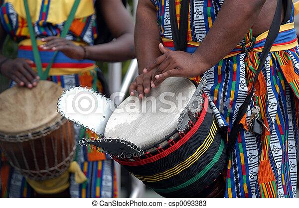 African drummer 2 - csp0093383