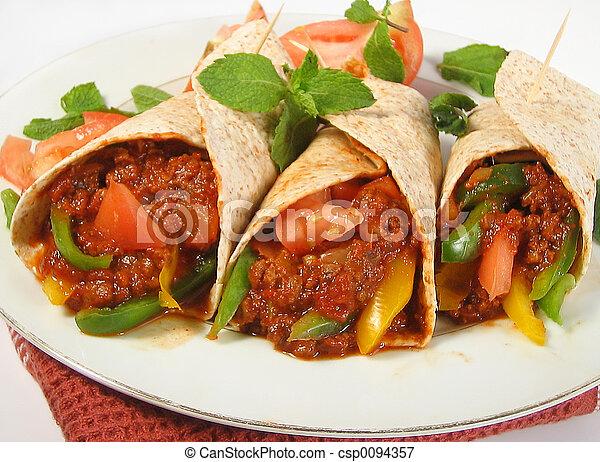 cibo, Messicano - csp0094357