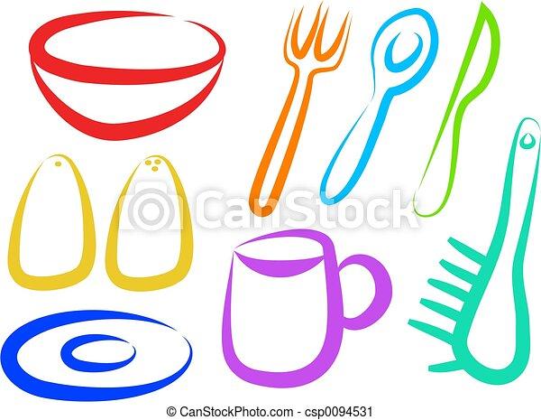 clipart di cucina icone cucina simbolicsp0094531 cerca clipart illustrazioni disegni e. Black Bedroom Furniture Sets. Home Design Ideas