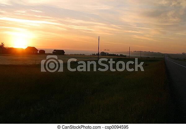rural sunrise - csp0094595
