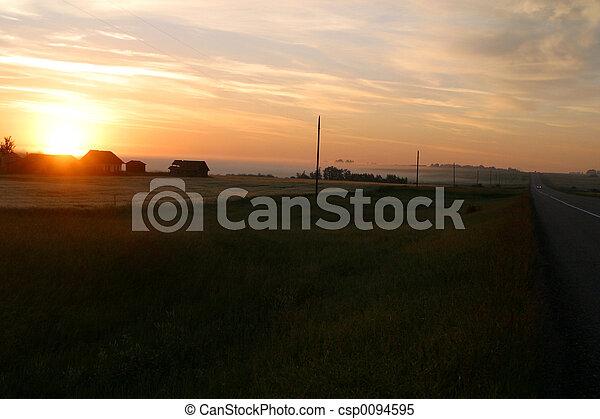 rural sunrise - csp0094595
