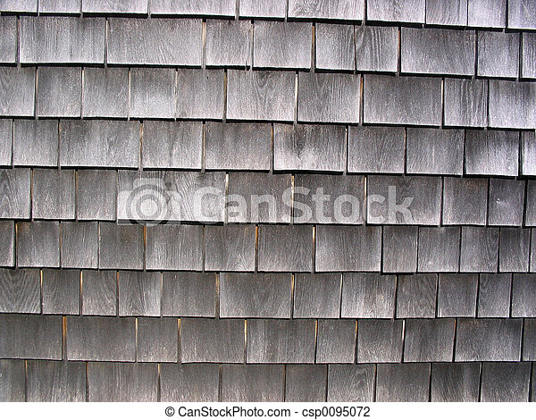 Stock photo of cape cod shingles the weathered cedar for Shingle art cape cod