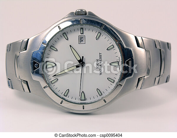 Laying silver business watch