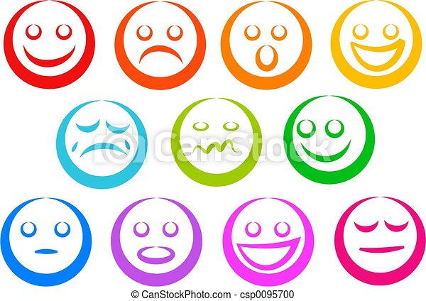 Stock Illustration of Emotion Icons - emoticons csp0095700 ...