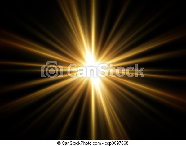 Rays of Golden Light - csp0097668