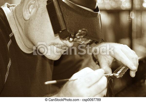 Old Fashioned Craftsmanship - csp0097789