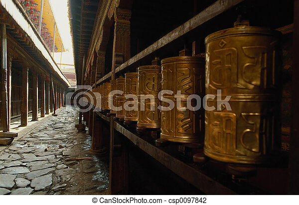 Prayer wheel - csp0097842