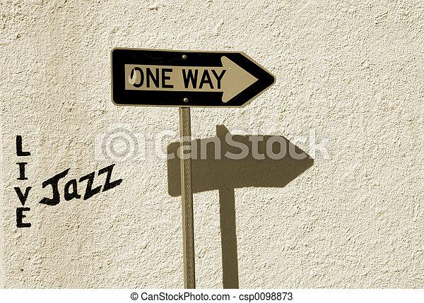 Live Jazz This Way - csp0098873