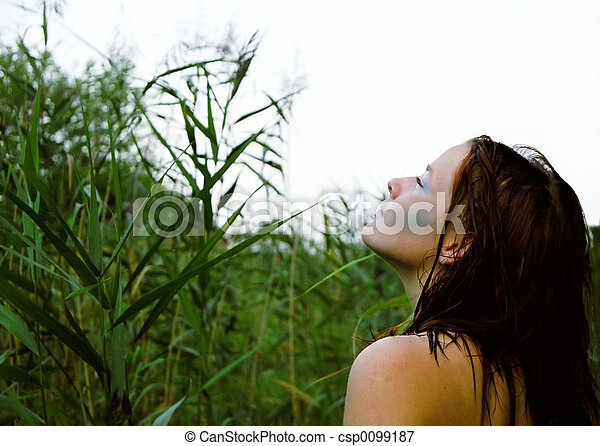 Woman in nature - csp0099187