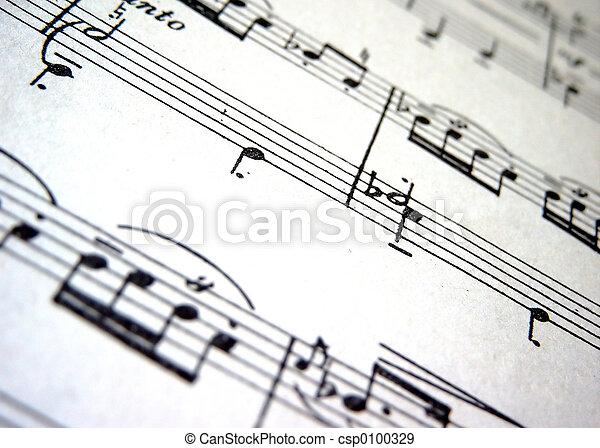 Stock Photographs of Music - Close up;music score