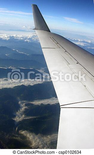 flying aeroplane - csp0102634