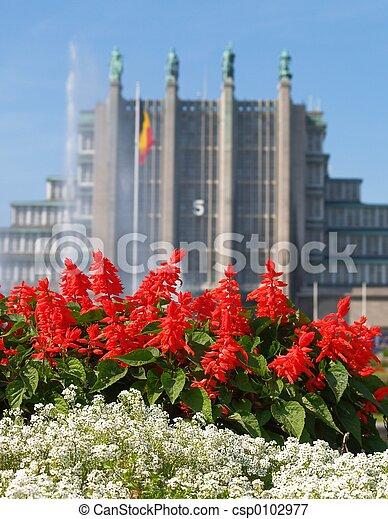 Brussels Centennial Halls. - csp0102977