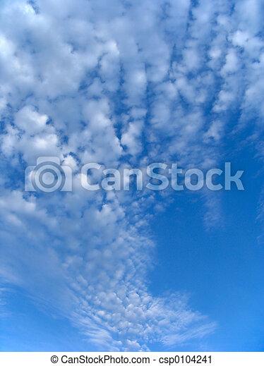 Fleecy clouds - csp0104241