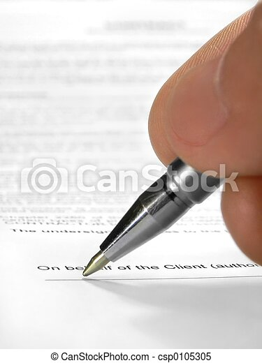 Signing contract - csp0105305