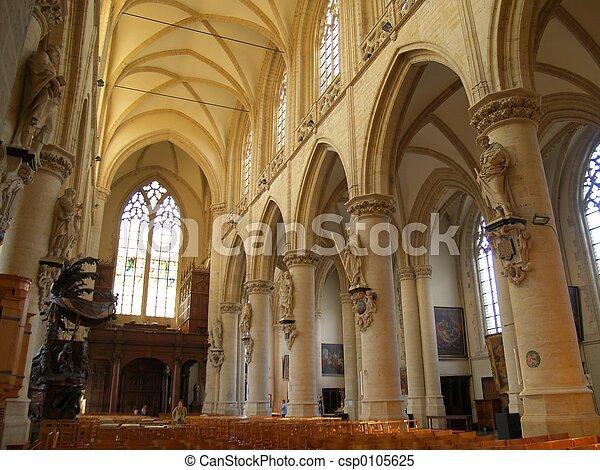Gothic church interior - csp0105625