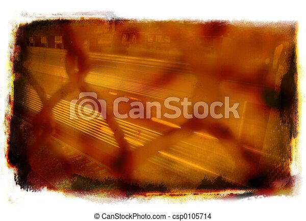 Grunge Train - csp0105714