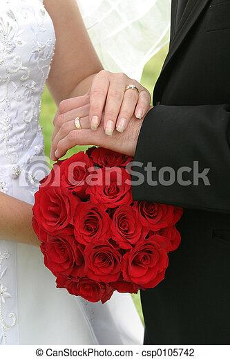 bukett, bröllop - csp0105742