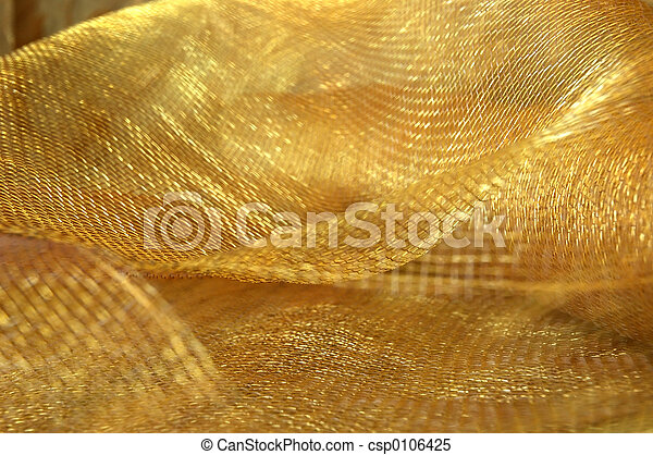 Gold Netting Fabric - csp0106425