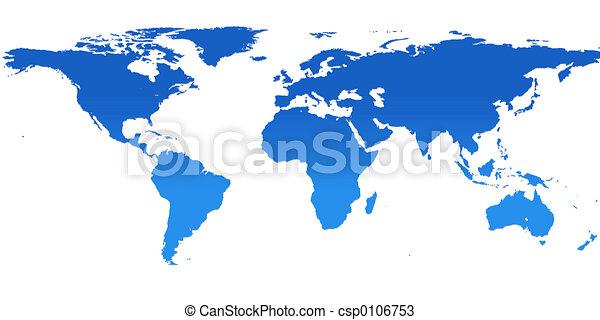 blue world map - csp0106753