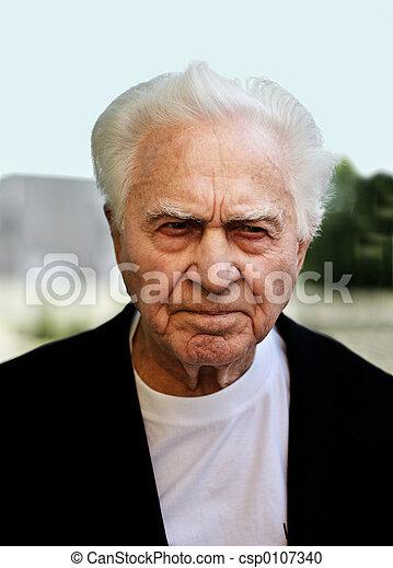 Unhappy old man - csp0107340